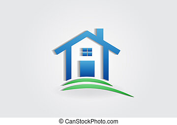 maison, appartement, vecteur, logo