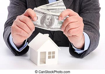 maison, argent