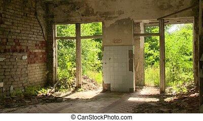 maison, armageddon, après, vieux, abandonnés
