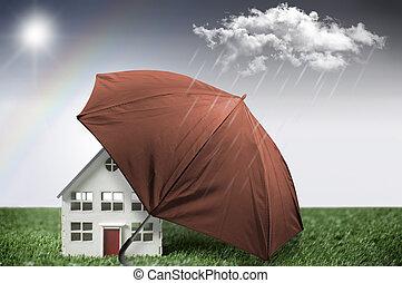 maison, assurance, protection