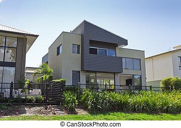 maison, australien, moderne