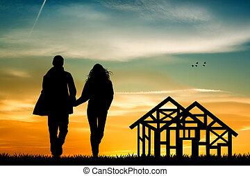 maison, avenir,  construction, sous