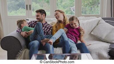 maison, avoir, confortable, 4k, amusement, famille