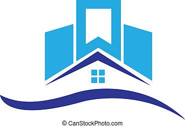 maison, bâtiments, logo