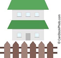 maison, barrière