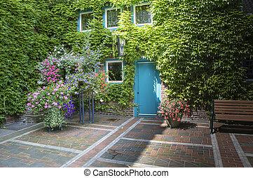 maison, beautifull, jardin