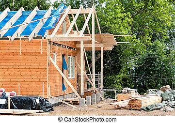 maison bois, construction