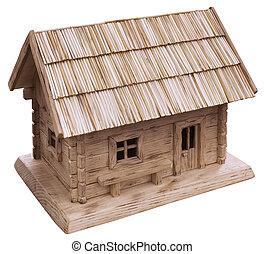 maison bois, coupure, vieux
