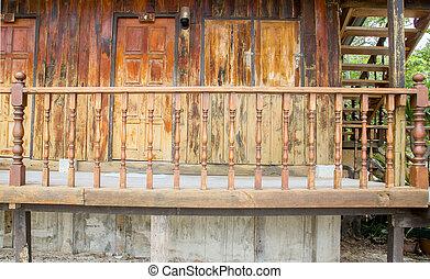 maison bois, terrasse
