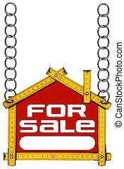 maison bois, -, vente, mètre, signe