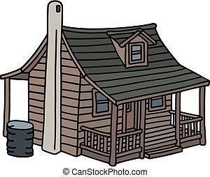 maison bois, vieux