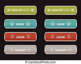 maison, bouton, page