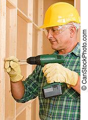 maison, bricoleur, tournevis, fonctionnement, amélioration