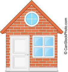 maison, brique