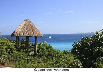 maison, bungalow, mexique
