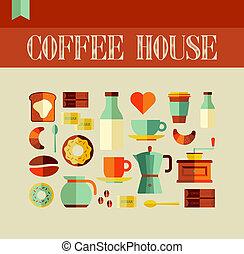 maison, café, concept