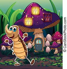 enchant maison voler champignon abeille champignon vecteurs eps rechercher des clip. Black Bedroom Furniture Sets. Home Design Ideas