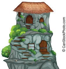 maison, caverne