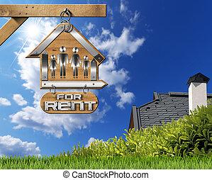 maison, chaîne, loyer, famille, signe