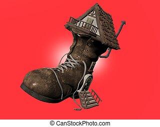 maison, chaussure