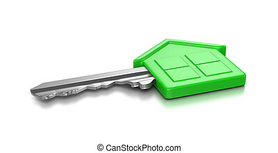 maison, clef verte