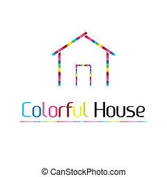 maison, coloré