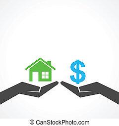 maison, concept, argent, sauver