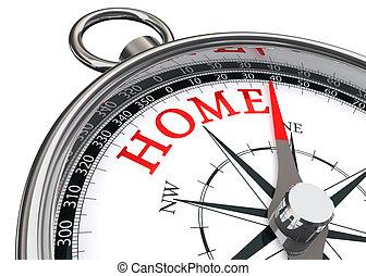 maison, concept, compas