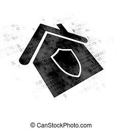 maison, concept:, finance, fond, numérique