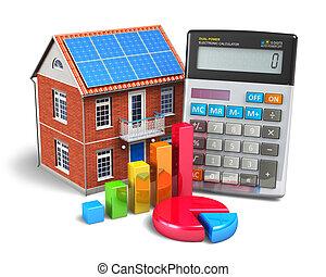 maison, concept, finances