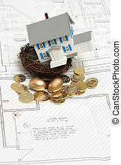 maison, concept, investissement