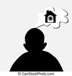 maison, concept, rêve