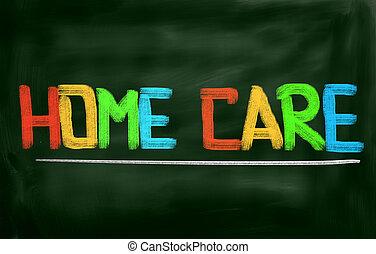maison, concept, soin
