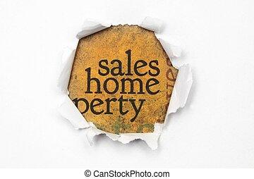 maison, concept, ventes