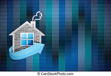 maison, conception, illustration