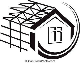 maison,  construction,  Illustration, sous