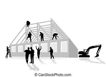 maison, constructions, travaux