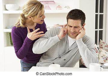 maison, couple, avoir, argument