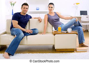 maison, couple