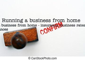 maison, courant, business