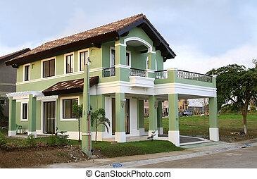 maison, coutume, construit, nouveau