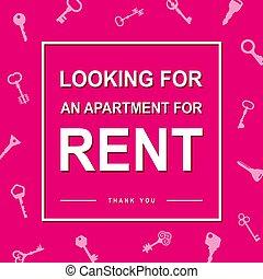 maison, couverture, loyer, regarder, gabarit, application., appartement, conception, recherche