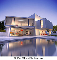 maison, cube, b1, deconstruction