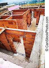 maison, détaché, construction