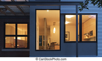 maison, détail, contemporain