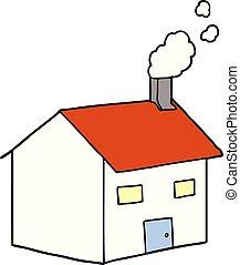 maison, dessin animé