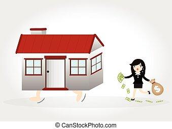 maison, dette