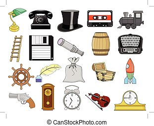 maison, différent, ensemble, objets, apparenté
