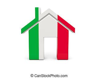 maison, drapeau, italie
