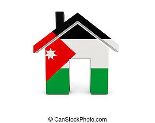 maison, drapeau, jordanie
